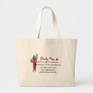 Bloody Mary Drink Recipe Jumbo Tote Bag