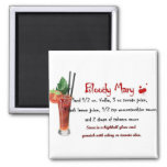 Bloody Mary Drink Recipe Magnets
