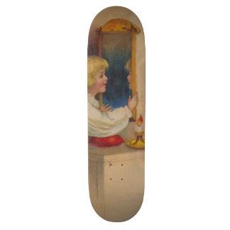Bloody Mary Mirror Cute Little Girl 18.1 Cm Old School Skateboard Deck