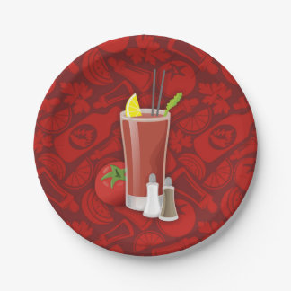 Bloody Mary Paper Plate