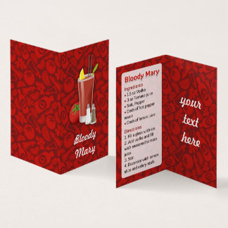 Bloody Mary Recipe Business Card