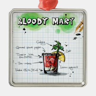 Bloody Mary Recipe - Cocktail Gift Christmas Ornament