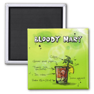 Bloody Mary Recipe - Cocktail Gift Magnet