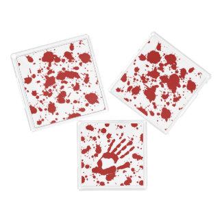 Bloody Mess Blood Spatter Hand Print Halloween