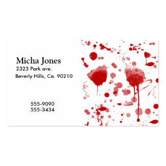 Bloody Mess Drips Splatters Custom Color BG Business Cards