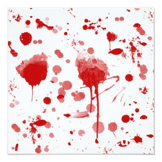 Bloody Mess Drips Splatters Custom Color BG 13 Cm X 13 Cm Square Invitation Card