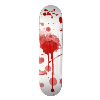 Bloody Mess Drips Splatters Custom Color BG Skate Board