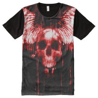 Bloody Messenger Skull Airbrush Art All-Over Print T-Shirt