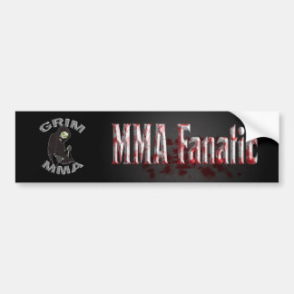 Bloody MMA Fanatic bumper sticker