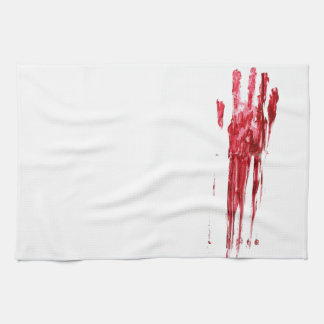 Bloody murder hand towel