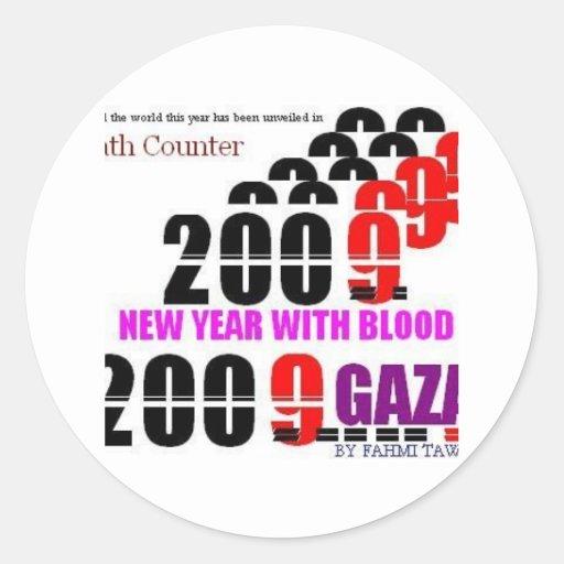 BLOODY NEW YEAR 2009 FOR GAZA2 STICKER