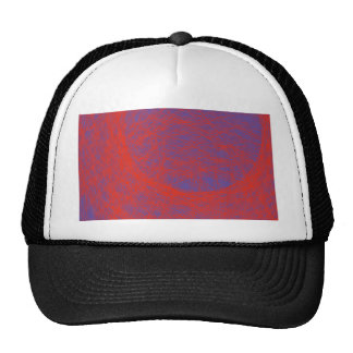 bloody red abstract art hats