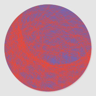 bloody red abstract art. round sticker