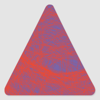 bloody red abstract art triangle sticker