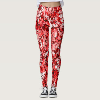 Bloody Red Skulls Leggings
