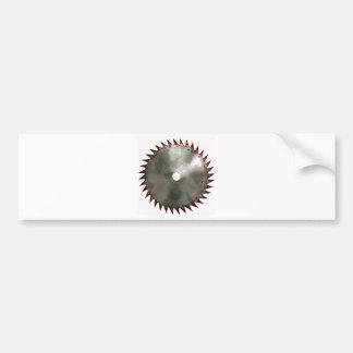 Bloody Saw Blade Bumper Sticker