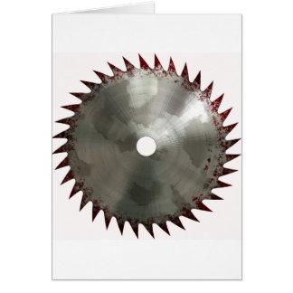 Bloody Saw Blade Greeting Card