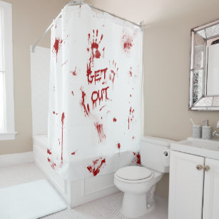 Bloody Shower Curtains