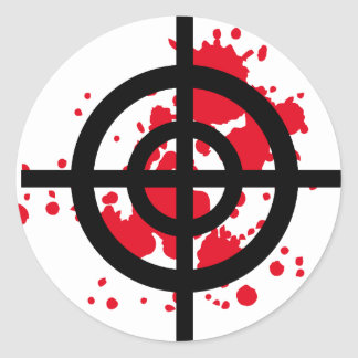 bloody target sniper classic round sticker