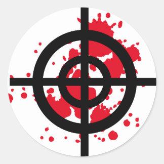 bloody target sniper round sticker