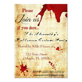 Bloody Vampire Halloween Party Invitation