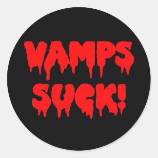 Bloody Vamps Suck! Round Sticker