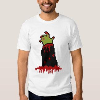 Bloody Zombie Hand Pixelated T Shirt