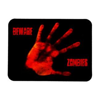 Bloody Zombie Hand Rectangular Photo Magnet