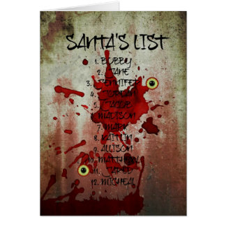Bloody Zombie Santa Claus Greeting Card