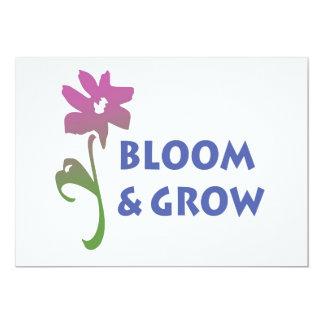 Bloom and Grow 13 Cm X 18 Cm Invitation Card