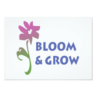 Bloom and Grow Personalized Invitations