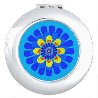 Bloom Blue Compact Mirror