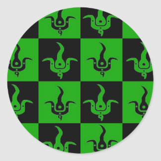 Bloom checkered logo stickers