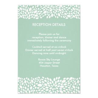 Bloom Customisable Wedding Reception/Direction Personalised Invitations