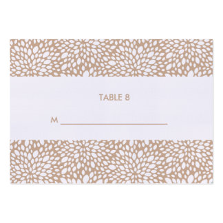 Bloom Customizable Escort Cards in Cashmere Business Card