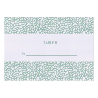 Bloom Customizable Escort Cards in Gum Leaf Business Card Template