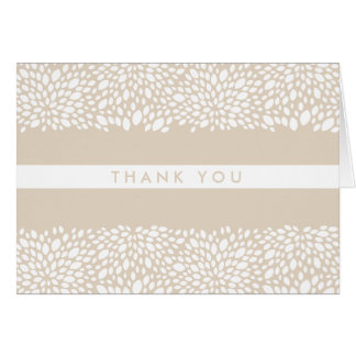 Bloom Customizable Thank You Card in Solitaire