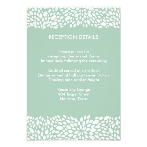Bloom Customizable Wedding Reception/Direction Invites