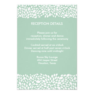 Bloom Customizable Wedding Reception Direction Invites
