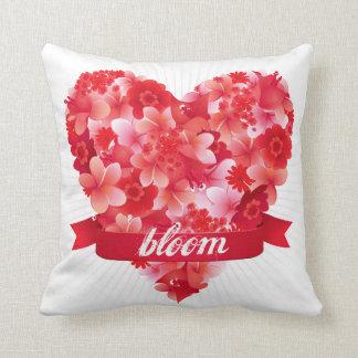 Bloom! Exotic tropical flower heart design Pillows