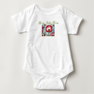 Bloom Flowers Baby Bodysuit