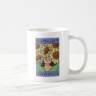 Bloom & Grow Chico State (purple blue) Basic White Mug