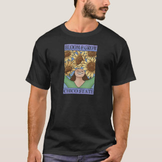 Bloom & Grow Chico State (purple blue) T-Shirt