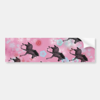 Bloom horse cherry tree bumper sticker