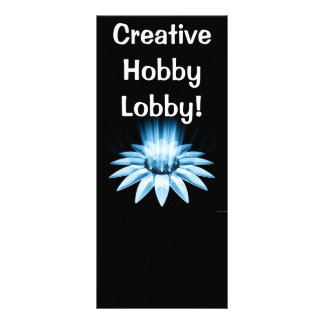 Bloom In Blue - Rack Card - Costumer Designes