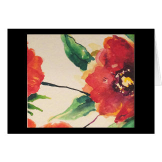 Bloom Notecard with Poppy on front