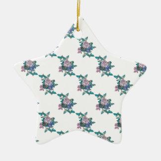 Bloom Print. Ceramic Star Decoration