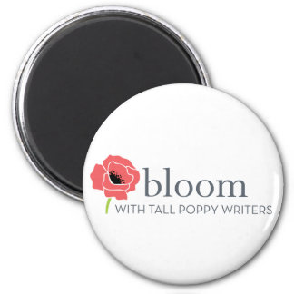 Bloom red-and-white flower magnet