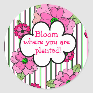 Bloom! Round Sticker