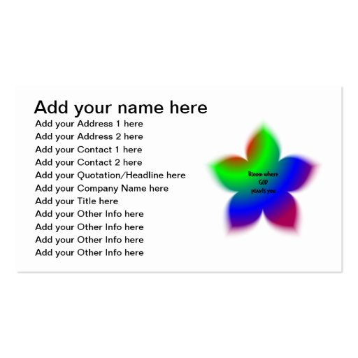 Bloom where God plants you Business Card Template